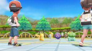 Pokemon Let's Go battle screenshot