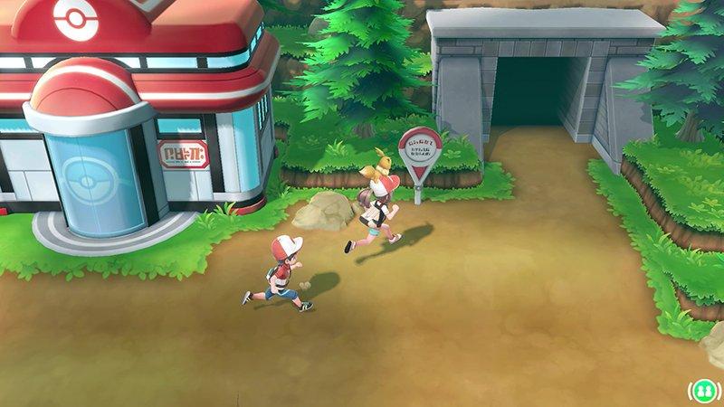 Pokemon Let's Go running eevee