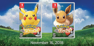 pokemon lets go pikachu eevee boxart november 2018